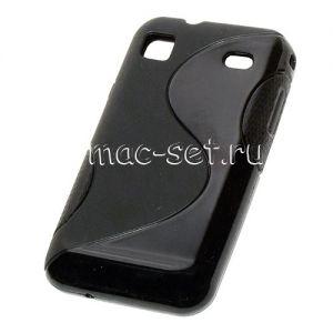 """Чехол-накладка силиконовый для Samsung Galaxy S plus I9001 (черный) """"S-Line"""""""