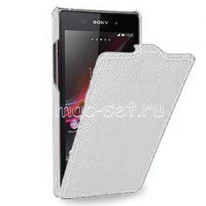 Чехол-книжка вертикальный флип для Sony Xperia Z1 (белый) TETDED