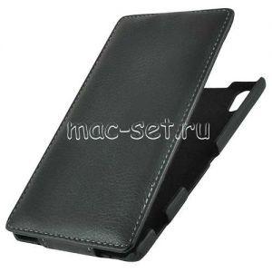 """Чехол-книжка вертикальный флип для Sony Xperia T3 """"UpCase"""" (черный)"""