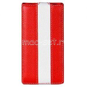 Чехол-книжка вертикальный флип для Sony Xperia Z Ultra (красный с белым)