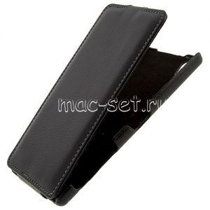 """Чехол-книжка вертикальный флип для Sony Xperia Z5 Premium / Dual """"UpCase"""" (черный)"""