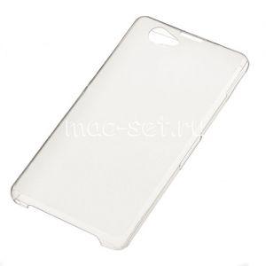 Чехол-накладка пластиковый для Sony Xperia Z1 (белый)