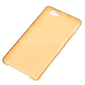 Чехол-накладка пластиковый для Sony Xperia Z1 ультратонкий (оранжевый)