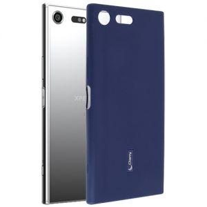 Чехол-накладка силиконовый для Sony Xperia XZ Premium / Dual (синий) Cherry