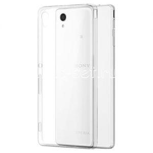 Чехол-накладка силиконовый для Sony Xperia M4 Aqua / M4 Aqua Dual [толщина 0.3 мм] (прозрачный)
