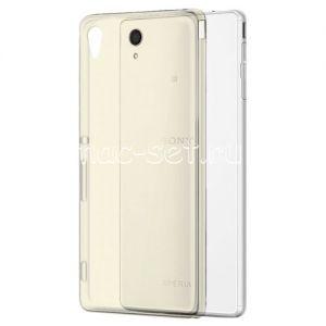 Чехол-накладка силиконовый для Sony Xperia M4 Aqua / M4 Aqua Dual [толщина 0.3 мм] (серый)