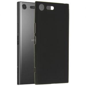 Чехол-накладка силиконовый для Sony Xperia XZ Premium / Dual (черный 0.8мм)