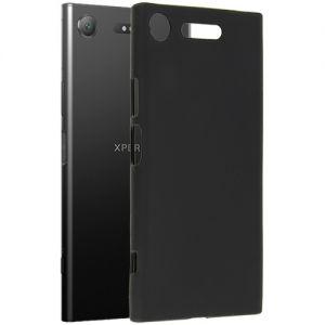 Чехол-накладка силиконовый для Sony Xperia XZ1 / XZ1 Dual (черный 0.8мм)