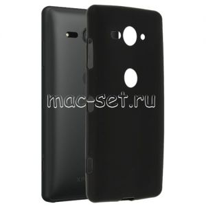 Чехол-накладка силиконовый для Sony Xperia XZ2 Compact (черный 0.8мм)