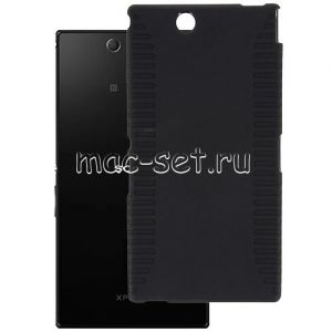 Чехол-накладка силиконовый для Sony Xperia Z Ultra / Dual (черный 0.8мм)