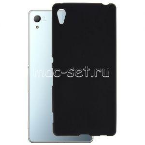 Чехол-накладка силиконовый для Sony Xperia Z3+ / Z4 / Dual (черный 0.8мм)