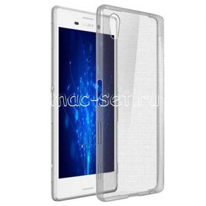 Чехол-накладка силиконовый для Sony Xperia Z5 / Z5 Dual (серый 0.5мм)