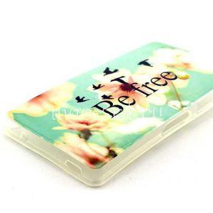 Чехол-накладка силиконовый для Sony Xperia Z3 Compact с принтом (Be Free & Flowers)
