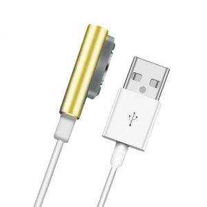 Кабель магнитный для Sony с индикатором зарядки [круглый разъем] (золотистый)