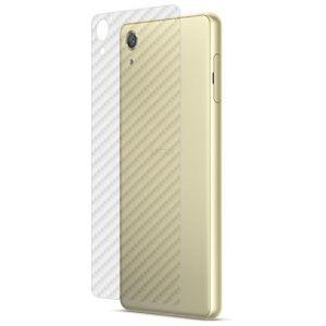 Защитная наклейка для Sony Xperia X / X Dual карбон [задняя] (прозрачная)