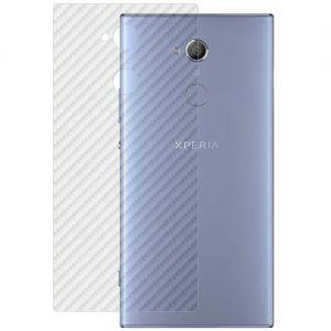 Защитная наклейка для Sony Xperia XA2 Ultra / Dual карбон [задняя] (прозрачная)