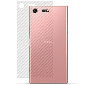 Защитная наклейка для Sony Xperia XZ Premium / Dual карбон [задняя] (прозрачная)