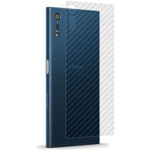 """Защитная наклейка для Sony Xperia XZ / XZ Dual """"карбон"""" [задняя] (прозрачная)"""