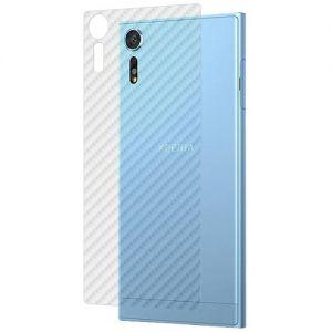 """Защитная наклейка для Sony Xperia XZs / XZs Dual """"карбон"""" [задняя] (прозрачная)"""