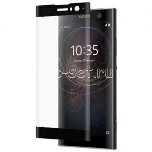 Защитное стекло 3D для Sony Xperia XA2 / XA2 Dual [изогнутое на весь экран] (черное)
