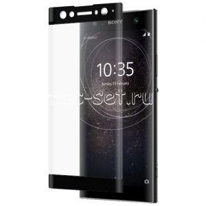 Защитное стекло 3D для Sony Xperia XA2 Ultra / Dual [изогнутое на весь экран] (черное)