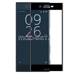 Защитное стекло 3D для Sony Xperia XZ / XZs / Dual [изогнутое на весь экран] Aiwo (черное)