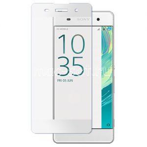 Защитное стекло для Sony Xperia XA / XA Dual [на весь экран] (белое)