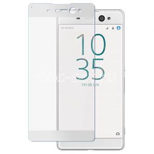 Защитное стекло для Sony Xperia XA Ultra / Dual [на весь экран] Aiwo (белое)