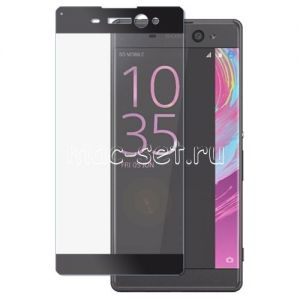 Защитное стекло для Sony Xperia XA Ultra / Dual [на весь экран] Aiwo (черное)