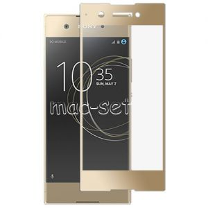 Защитное стекло для Sony Xperia XA1 / XA1 Dual [на весь экран] Aiwo (золотистое)