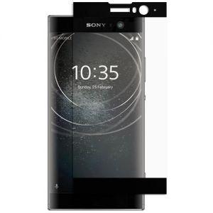 Защитное стекло для Sony Xperia XA2 / XA2 Dual [на весь экран] (черное)