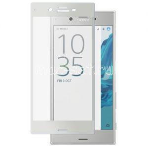 Защитное стекло для Sony Xperia XZ / XZ Dual [на весь экран] Aiwo (белое)