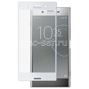 Защитное стекло для Sony Xperia XZ Premium / Dual [на весь экран] (белое)