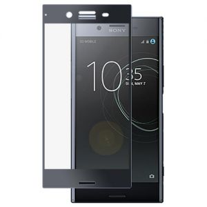 Защитное стекло для Sony Xperia XZ Premium / Dual [на весь экран] (черное)