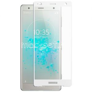 Защитное стекло для Sony Xperia XZ2 / XZ2 Dual [на весь экран] Aiwo (белое)