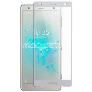 Защитное стекло для Sony Xperia XZ2 / XZ2 Dual [на весь экран] Aiwo (серебристое)