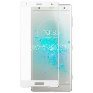 Защитное стекло для Sony Xperia XZ2 / XZ2 Dual [на весь экран] (белое)