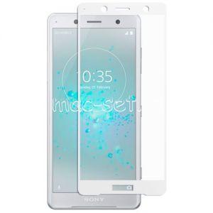 Защитное стекло для Sony Xperia XZ2 Compact [на весь экран] (белое)