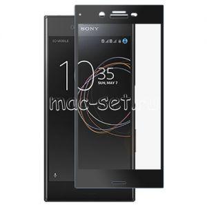 Защитное стекло для Sony Xperia XZs / XZs Dual [на весь экран] Aiwo (черное)