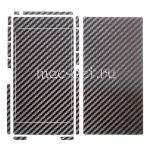 """Виниловая наклейка """"карбон"""" для Sony Xperia Z1 [комплект] (черная)"""