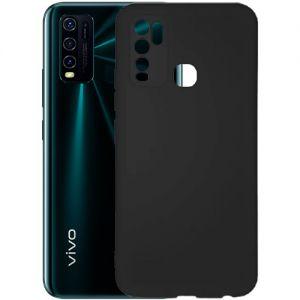 Чехол-накладка силиконовый для VIVO Y30 (черный 1.0мм) матовый