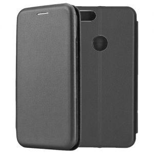 Чехол-книжка кожаный для Xiaomi Mi A1 / Mi5x (черный) Book Case Fashion