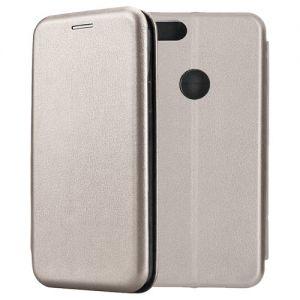 Чехол-книжка кожаный для Xiaomi Mi A1 / Mi5x (серый) Book Case Fashion