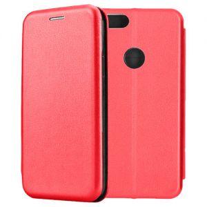 Чехол-книжка кожаный для Xiaomi Mi A1 / Mi5x (красный) Book Case Fashion