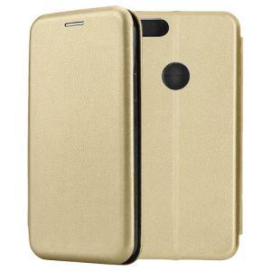 Чехол-книжка кожаный для Xiaomi Mi A1 / Mi5x (золотистый) Book Case Fashion