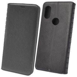 Чехол-книжка кожаный для Xiaomi Mi Max 3 (черный) Book Case New