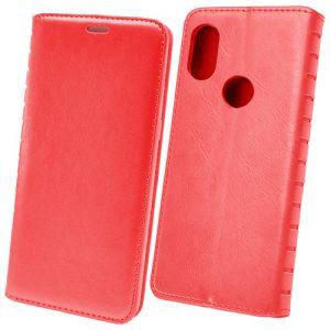 Чехол-книжка кожаный для Xiaomi Mi Max 3 (красный) Book Case New