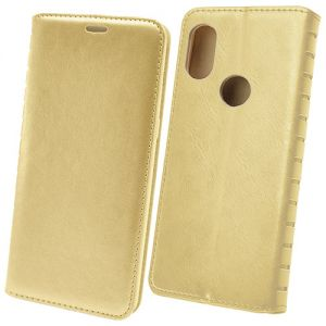 Чехол-книжка кожаный для Xiaomi Mi A2 Lite (золотистый) Book Case New
