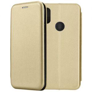 Чехол-книжка кожаный для Xiaomi Mi A2 / Mi6x (золотистый) Book Case Fashion