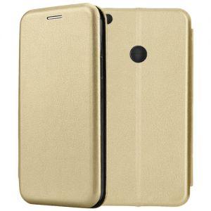 Чехол-книжка кожаный для Xiaomi Mi Max 2 (золотистый) Book Case Fashion